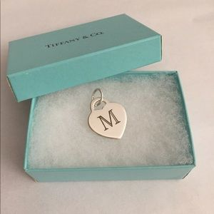 "Tiffany & Co. ""M"" Charm Pendant"